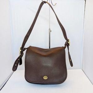COACH Brown Leather Vintage Shoulder Bag